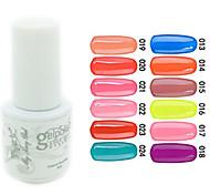 yemannvyou®sequins uv Farb GelNagellack no.13-24 (5 ml, farblich sortiert)