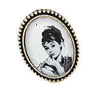 New European And American Retro Palace Lady Beauty Avatar Ring