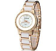 Diamante Dial Ceramic banda quartzo relógio de pulso analógico de Mulheres (cores sortidas)