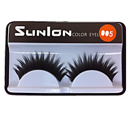 10 Pair Black Machine Made False Eyelashes SL005