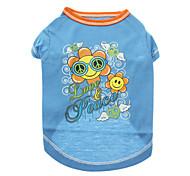 Verano - Azul Algodón - Camiseta - Perros - XXS / XS / S / M / L / XL / XXL / XXXL