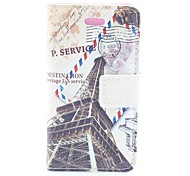 Retro Tower Pattern PU Full Body Case with Card Slot and PC Back Cover insight for iPhone 5/5S