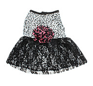 Dog Dress / Clothes/Clothing Black Summer Leopard