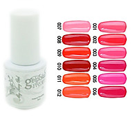 YeManNvYou®Sequins UV Color Gel Nail Polish No.1-12 (5ml, Assorted Colors)