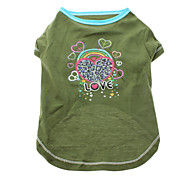 Cool Love Hearts Pattern T-Shirt for Pets Dogs (Assorted Sizes)