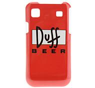 Doff BIER Pattern Hard Case voor Samsung Galaxy S I9000