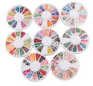 YeManNvYou®8PCS Nail Art Decoration Wheels Mixed-pattern(6x6x1cm)