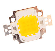 10W 650lm Warm White LED Emissor placa de metal (10-11V)