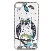 Owl Princess Pattern Diamond Look Hard Case for iPhone 4/4S