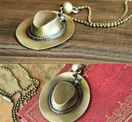 Retro fashion cowboy hat -shaped sweater chain N438