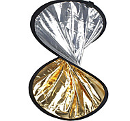 "24"" 2 in1 silver golden disc collapsible Reflector 60cm"