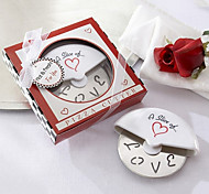 A Slice of Love en acier inoxydable Couteau à pizza en miniature Pizza Box Favors
