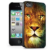 leone motivo caso effetto 3d per iphone4/4s