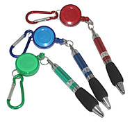 Mountaineering Buckle Tensile Blue Ink Ballpoint Pen(Random Color)