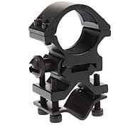 Durable Metal Flashlight Mount Holder Clamp with A Installation Tool for Bicycle - Black