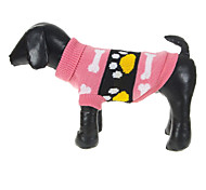 Dog Sweater Pink Winter Cartoon