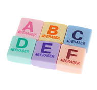6 Pack Words Pattern Eraser