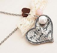 Antiguo amor de la plata de la perla del collar N20