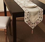 """16 """"X85"""" Modern Style linho bege e corredores de mesa de algodão"""