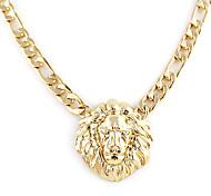 Golden Plated Lion Head Pendant Necklace