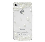 For iPhone 5 Case Rhinestone / Transparent Case Back Cover Case Solid Color Hard PC iPhone SE/5s/5