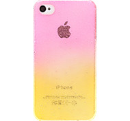 Double Colors 3D Water Drops Pattern Transparent PC Hard Case for iPhone 4/4S