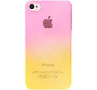 Doppel Colors 3D Wassertropfen Muster Transparent PC Hard Case für iPhone 4/4S