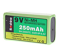 Soshine 250mAh Ni-MH Rechargeable Battery (9V)