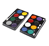 8 Colors Clown Kit Pintura de cara (color al azar)