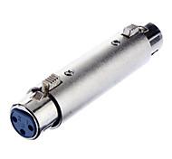 XLR de 3 núcleos hembra a RCA hembra adaptador niquelado para KTV Micrófono DIY