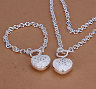 Heart-Shaped Chain Jewelry Set