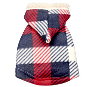 Comfortable Classic Grids Pattern Vest with Hoodie for Pets Dogs (Assorted Sizes)