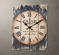 """15""""H Country Style Brown Wall Clock"""