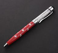 Haute Qualité Rempli cristal 2-en-un stylo à bille Conçu capacitif Stylet pour iPhone / iPad et autres (couleurs assorties)