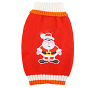 Cute Christmas Style Santa Claus Pattern Sweater for Pets Dogs (Assorted Sizes)
