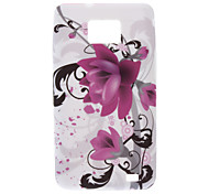Wisteria Flower Pattern TPU Soft Back Cover Case for Samsung Galaxy S2 I9100