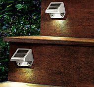 Outdoor Solar 4-LED White Light LED Powered Wall Stairway Yard Garden Fence Spot Light Lamp