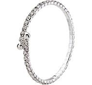 Ein-Ebenen-Silber-überzogenes Armband