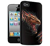 Evil Dinosaur Pattern 3D Effect Case for iPhone4/4S