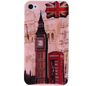 Retro Big Ben and Telephone Booth Plastic Hard Case for iPhone 4 4S