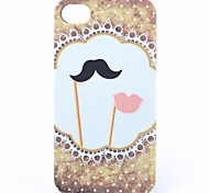 ABS Mustache Lip Back Case for iPhone 4/4S