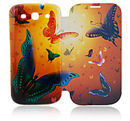 Butterfly Leather Case for Samsung Galaxy S3 I9300