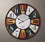 """H24 """"Country Style quadradas de metal relógio de parede"""