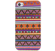 Purple Tones Tiny Triangles Pattern Hard Case for iPhone 4/4S