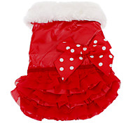 Cute Warm Dress with Lace Bowknot for Pets Dogs (Assorted Colors, Sizes)