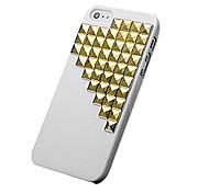 Bling luxo strass defensor 3d plástico tampa caso difícil para iphone 5/5s/5g (cores sortidas)
