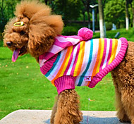 Hunde - Winter - Wollen Blau / Rosa - Pullover - XS / M / XXS / S / L