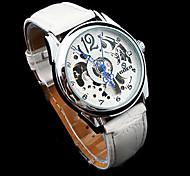 Männer Auto-Mechanical Luxuxstahlseifen Skeleton Armbanduhr 8
