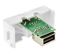 Keystone Jack USB 2.0 una femmina ad una femmina accoppiatore adattatore filo Tipo Bianco