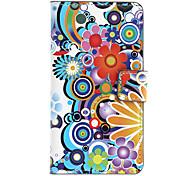 Cartoon Blumen-Muster Full Body Gehäuse mit Card Slot für Sony L36h (Xperia Z)